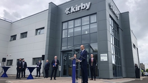 Taoiseach Micheál Martin at Kirby Engineering, which has announced 300 new jobs