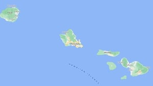 The emergency landing was made in the ocean off the coast of Honolulu, Hawaii, earlier today (Credit - Google Maps)