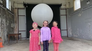 Alison O'Keeffe, Katie Dwyer and Lara Sanz Murphy of Scoil Mhuire, Oranmore, Co Galway