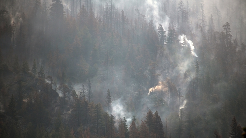 Most of the fires were caused by lightning strikes, officials have said