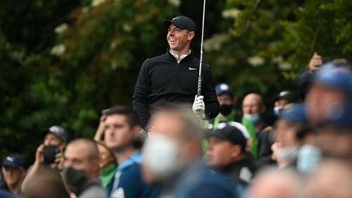 Rory McIlroy saw more of the course than he had hoped at the Thomastown track