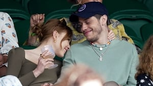 The couple watched Roger Federer's match against Cameron Norrie on centre court at Wimbledon