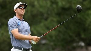Seamus Power surveys his drive on the fourth hole at Detroit Golf Club