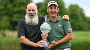 Lucas Herbert and caddie Nick Pugh were in jubilant mood after the 25-year-old recorded his second success on the European Tour