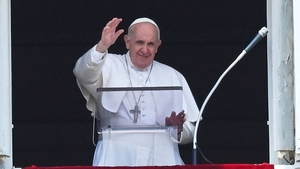 Pope Francis waving to crowds in Rome yesterday just hours before surgery