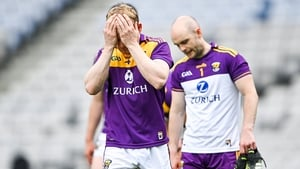 Simon Donohoe and Mark Fanning react to the defeat to Kilkenny