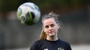 Claire Walsh during a Republic of Ireland Women training session last year