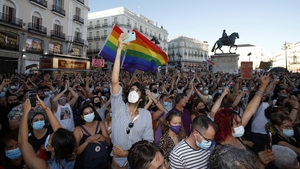 Protesters took to the streets of Spain's main cities on Monday night to vent their fury at the killing