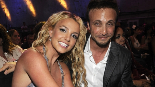 Britney Spears and Larry Rudolph pictured in 2008 at the MTV Video Music Awards