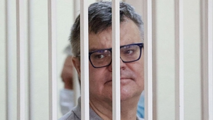 Viktor Babariko appears for the hearing at the Supreme Court of Belarus