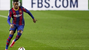 Junior Firpo in action for Barcelona in March
