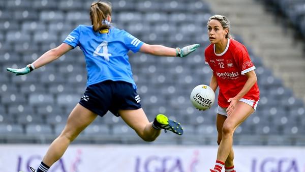 Orla Finn up against Dublin's Hannah Leahy in the recent league final