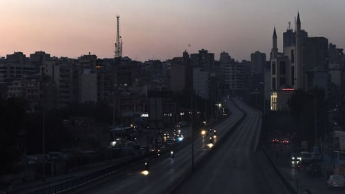 Power cuts caused by a fuel shortage in the Lebanese capital, Beirut