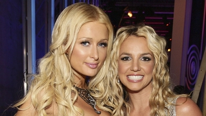 Paris Hilton and Britney Spears pictured at the MTV Music Awards in 2008