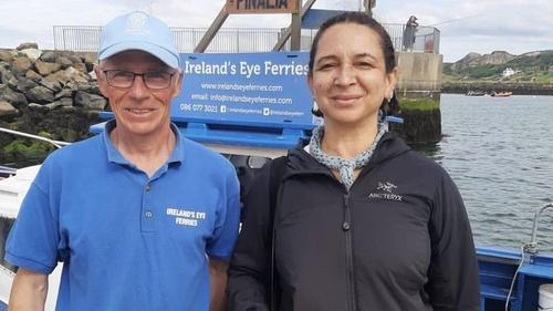 Maya Rudolph took a trip on Ireland's Eye Ferries, image via Ireland's Eye Ferries/Instagram