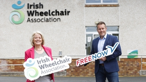Rosemary Keogh, CEO of the Irish Wheelchair Association with Niall Carson, Country Manager of Free Now