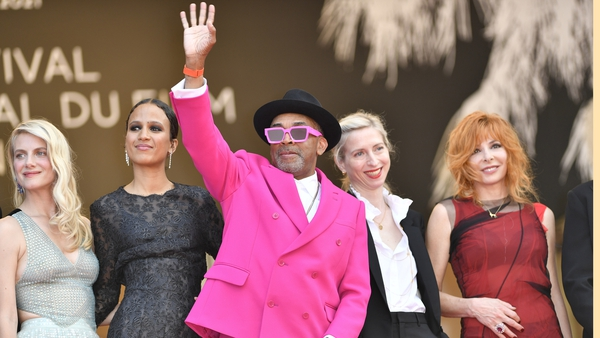 Spike Lee (centre) at Cannes