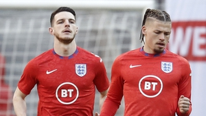 Declan Rice and Kalvin Phillips are relatively inexperienced at international level
