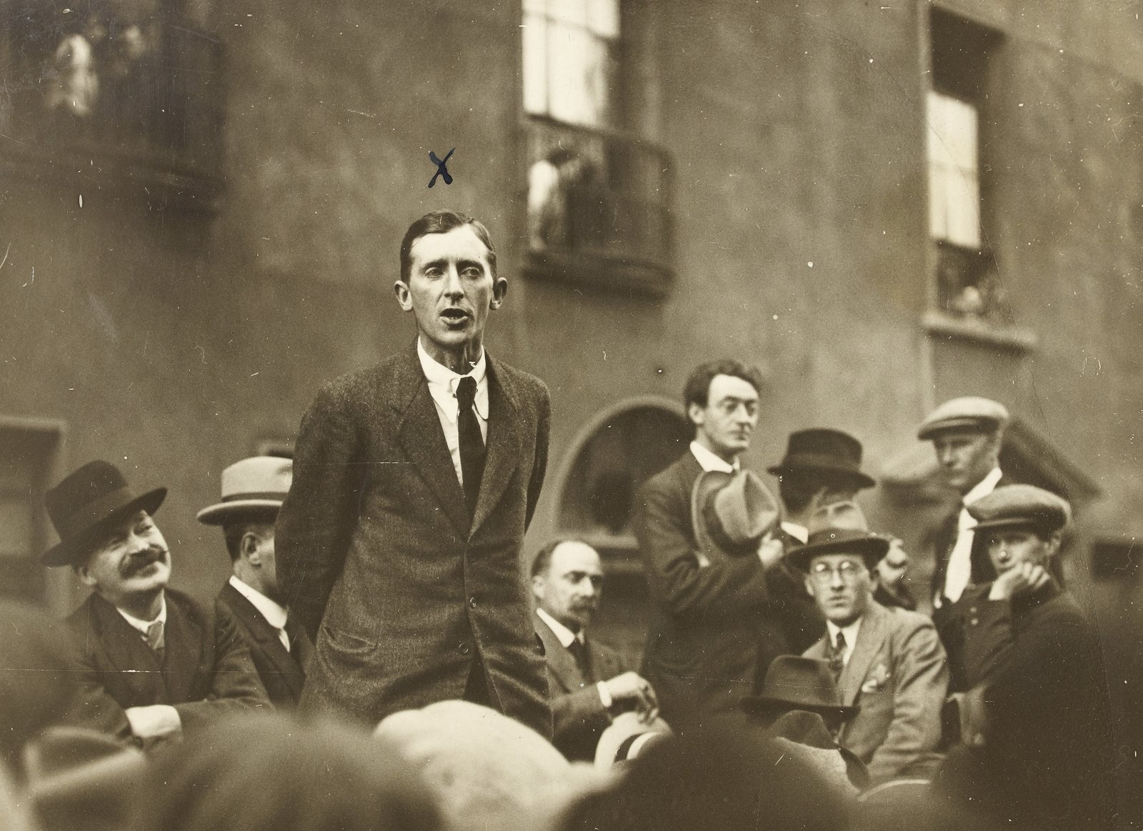 Image - This was deeply resented by the Chief of Staff, Richard Mulcahy. Brugha attempted to dismiss him from office. (Credit: National Library of Ireland)