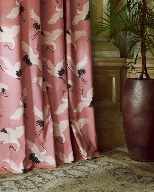 Oriental Birds Fabric, £35 per metre, Paloma Home (Michael Sinclair/Olivia Gregory,PA)