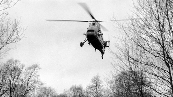 A RAF Wessex helicopter on border patrol in Northern Ireland in December 1969. Photo:Watford/Mirrorpix via Getty Images