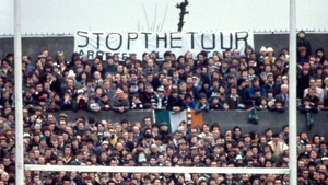 Fans protested the tour in Lansdowne Road