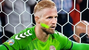 Schmeichel said the laser had not affected him for the penalty but had earlier in the game.