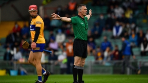 James Owens awarding a controversial penalty to Tipperary in Limerick on Sunday