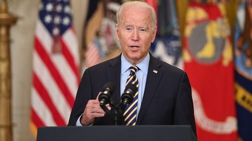 Joe Biden said it is the right and the responsibility of the Afghan people to decide their future