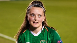 Toland after winning a Player of The Match award with Ireland against Montenegro in September 2019
