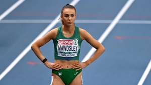 Sharlene Mawdsley ahead of the Women's 400m at the European Indoor Athletics Championships in Poland in March