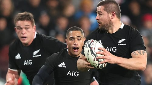Dane Coles (right) scored four tries in 24 second-half minutes