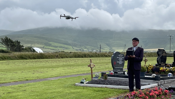 Fr Patsy Lynch with the drone
