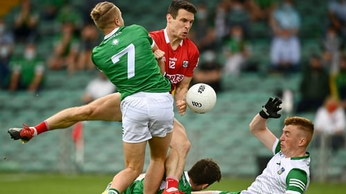 John O'Rourke bundles in the only goal of the game