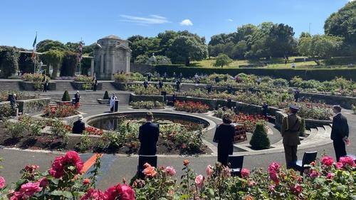 The event took place in the Irish National War Memorial Gardens, at Islandbridge, in Dublin