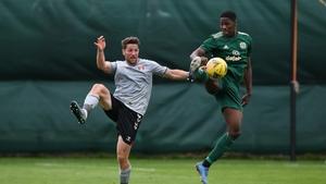 New Celtic signing Osaze Urhoghide in action against Charlton's Conor Washington