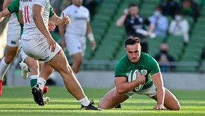 Ronan Kelleher touches down for his fourth try