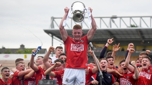 Conor O'Callaghan lifts the cup