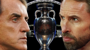 England boss Gareth Southgate (R) goes head to head with Roberto Mancini and Italy tonight