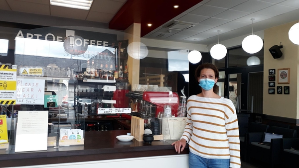 Carrick-on-Shannon café owner Georgia Vesnyei is frustrated by the lack of communication from the Government