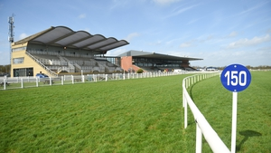 A general view of the home straight and grandstand at Fairyhouse