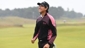 Min Woo Lee celebrates a second European title