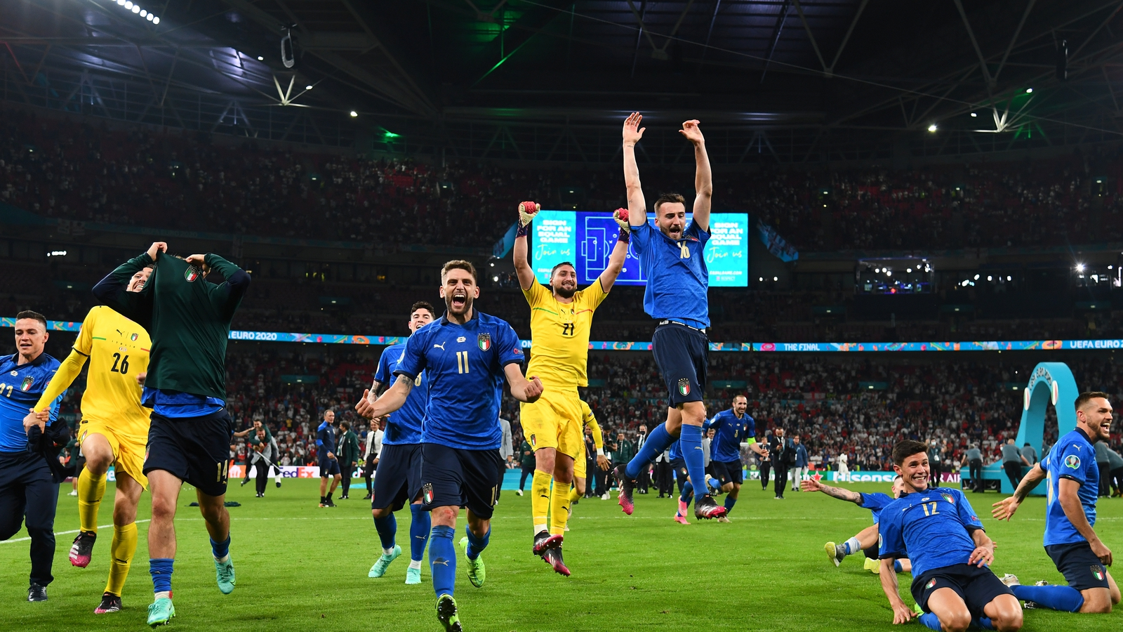 Over 1.1m watch conclusion of Euro 2020 on RTÉ
