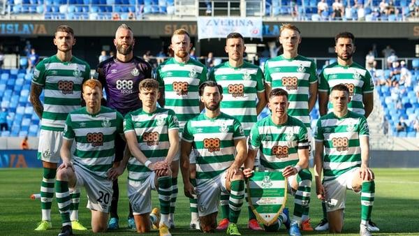 The Shamrock Rovers starting XI in Bratislava