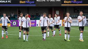 Dundalk put themselves in a commanding position in the first leg at Oriel Park