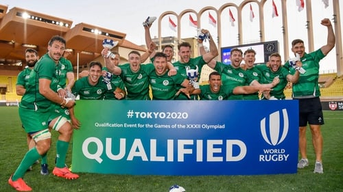Ireland celebrate their decisive win against France