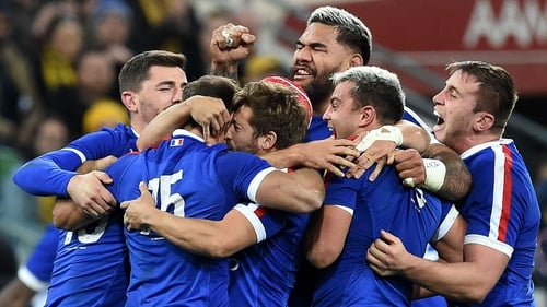 A jubilant France celebrate their victory