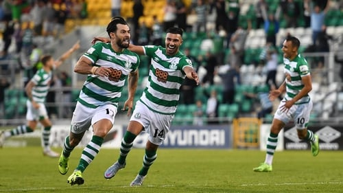 Shamrock Rovers came close to beating Slovan Bratislava