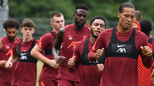 Liverpool players put through their paces in Austria