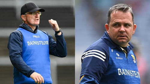 Clare manager Brian Lohan (L) and Wexford manager Davy Fitzgerald will pit their wits against each other once again